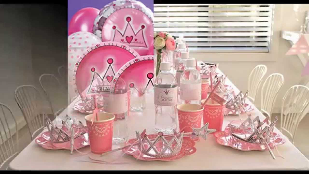 Princess party themes decorations at home ideas - YouTube