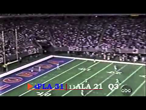 1996 SEC Championship Game: #4 Florida Gators vs. #11 Alabama Crimson Tide