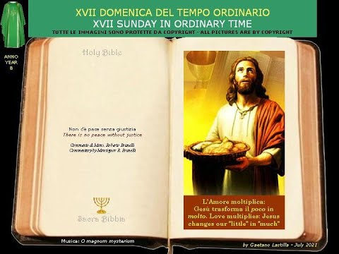 - 5 pani e 2 pesci-Gesù trasforma il poco che abbiamo in abbondanza-si ritirò di nuovo sul monte, da solo.