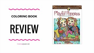 Playful Puppies Coloring Book Review - Marjoie Sarnat
