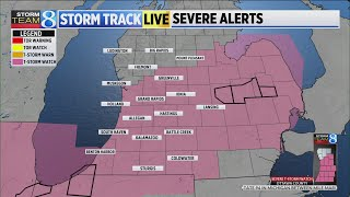 Severe thunderstorm watch issued for most of West Michigan
