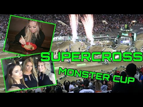 SUPERCROSS; MONSTER ENERGY CUP, TRYING RAMEN FOR THE FIRST TIME| vlog 9