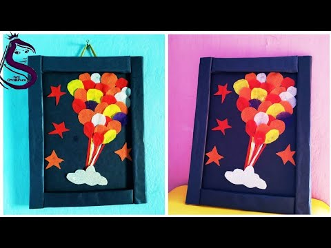 Wall Hanging Showpiece From Waste Shopping Bags
