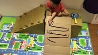 DIY Homemade Marble Run For Baby Kids 第二代自製紙箱跑彈珠滾球軌道(超簡單又好玩)