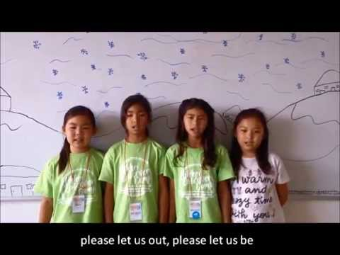 """""""Let Me Out"""" Frozen Song at Kizuna's 2014 Nikkei Discovery Camp"""
