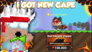 I GOT Volcanic Cape FOR CHEAP! (with PINATA) | GrowTopia