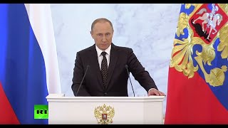 Putin: No refuge for terrorists, no contacts, no bloody business