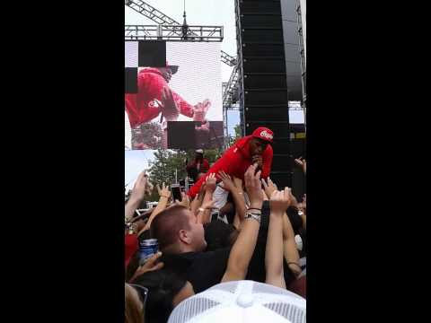B.O.B. performing at KSFM 102.5 live Sacramento