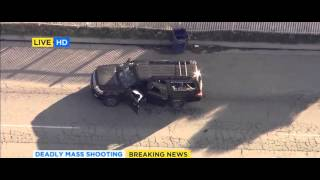 Take Off and Chase - San Bernardino California Shooting - Live Coverage