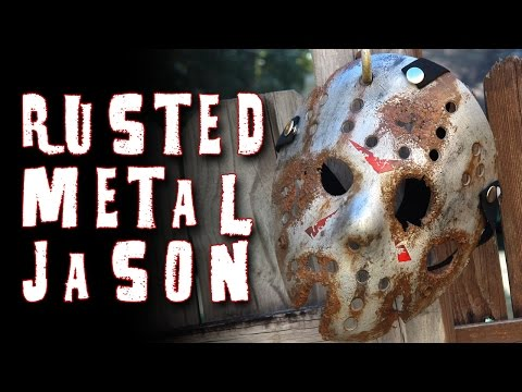 """How To Make a """"Rusted Metal"""" Jason Mask - Friday The 13th DIY Tutorial"""