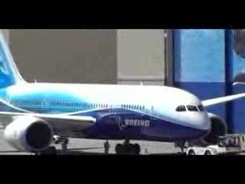 The Boeing 787-8 Rolls out in Everett, WA