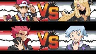 Pokemon: Red & Lance VS Cynthia & Steven