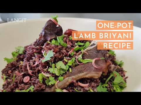 One-Pot Lamb Briyani Recipe with Langit's Beras Keladi