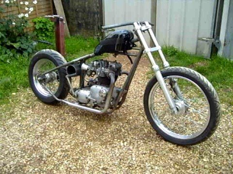 triumph bobber part 2. fenland choppers - youtube