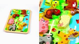 Dřevěné puzzle pro nejmenší Farma Chunky Janod od