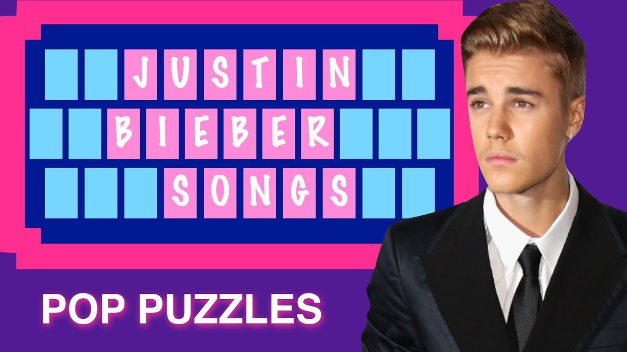 POP PUZZLES 5 Justin Bieber Can you solve the puzzles before