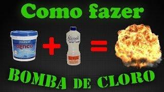 Como fazer uma Bomba de Cloro com Álcool [HOW TO MAKE A CHLORINE BOMB] - Cientista Maluco Br