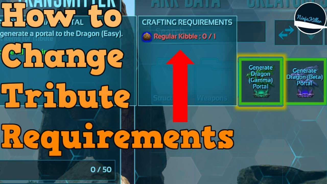 How to change the boss tribute requirements on your Ark Nitrado sever   Ark  Survival Evoved Nitrado