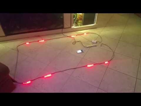 Testing out colorful x1 music control 300 5050 rgb leds