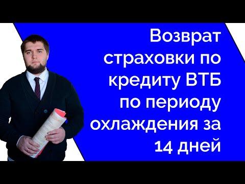 Возврат страховки ВТБ Финансовый резерв за 14 дней по периоду охлаждения Часть 1