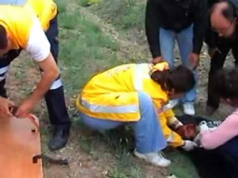 Hisarcık' ta Motosiklet Kazası