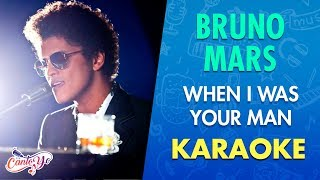 Video Bruno Mars - When I Was Your Man (Karaoke) | CantoYo download MP3, 3GP, MP4, WEBM, AVI, FLV Juni 2018