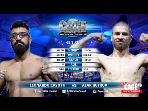 CAGE48: Leonardo Casotti vs Alar Hutrov - Full Fight (MMA)