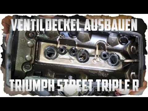 Ventildeckel Ausbauen I Kurbelwellengehäuse öffnen I Dichtung Ersetzen I Triumph Street Triple R 2
