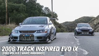 TRACK INSPIRED VOLTEX   VARIS WIDEBODY EVO 9  why the cops stopped us