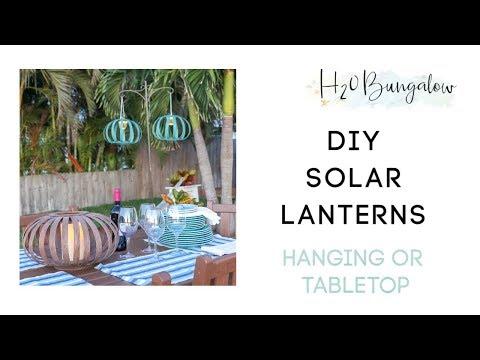 DIY Solar Hanging Lanterns From Cheap Solar Path Lights