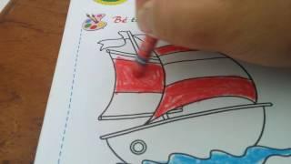 Tô  màu  thuyền  buồm  _ hướng  dẫn  trẻ  mầm  non  tô  màu