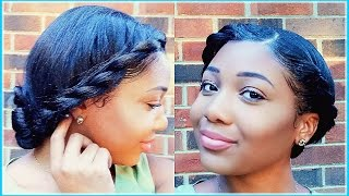 Flat Twisted Low Bun | Protective Summer Hair Tutorial