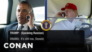 Trump Telephones Obama Days Before His Inaugu...