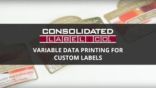 Variable Data Printing for Custom Labels