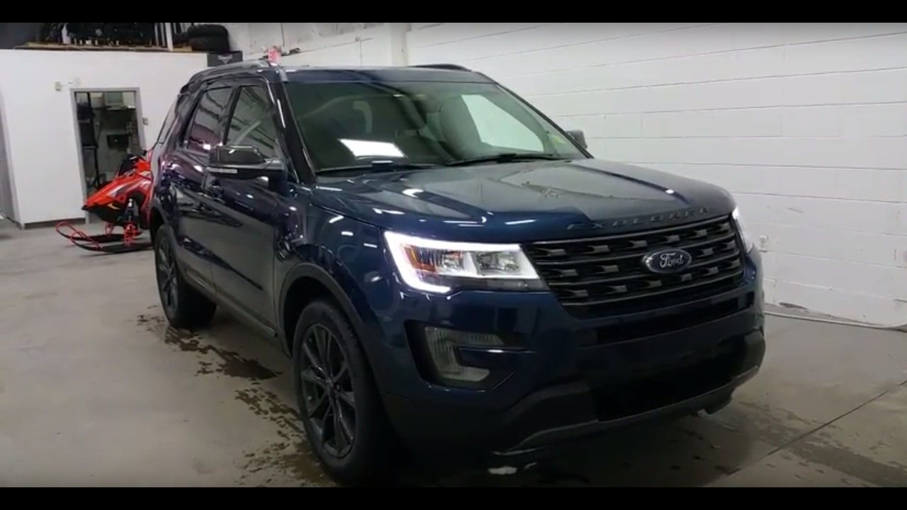 2017 ford explorer xlt sport appearance w 20 black rims led lights review boundary ford