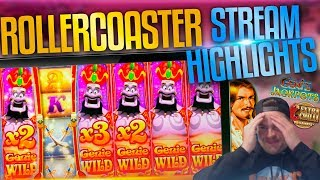 Saturday Slots Stream Highlights! Rollercoaster Session With Scotty!