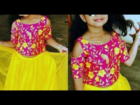 Cold Shoulder Top For Lehenga / Ghagara / Long Skirt For Girls Cutting & Stitching-Simple & Easy