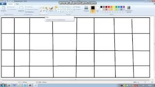 Как чертить таблицу в программе paint. Видео уроки.