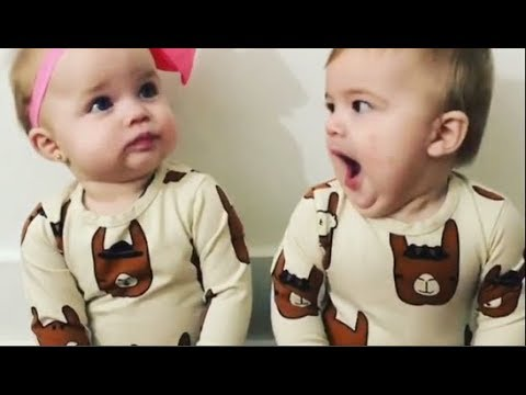 Funny Twins Baby Playing Together -  Cute Twins Baby Fighting Over -  Youtube