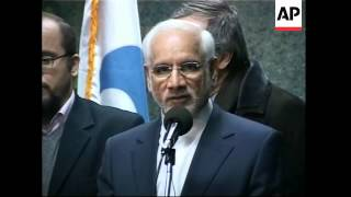 WRAP IAEA chief and head of Iranian Atomic Energy Org meet ADDS presser