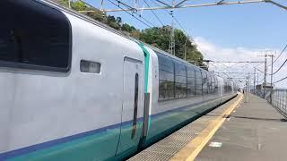 JR東日本251系スーパービュー踊り子号RE-3編成(田町車両センター)根府川駅通過。