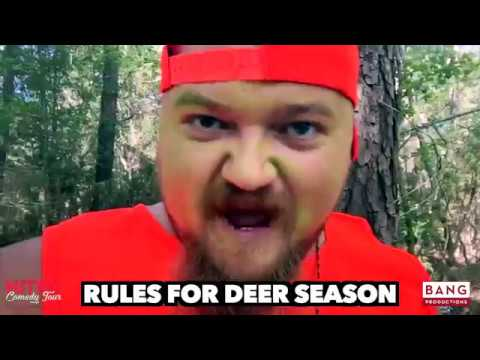 RULES FOR DEER SEASON! LOL FUNNY LAUGH COMEDY COMEDIAN CATFISH COOLEY