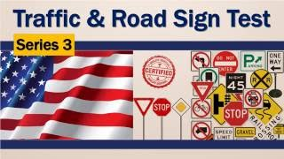 USA traffic road sign test series #3