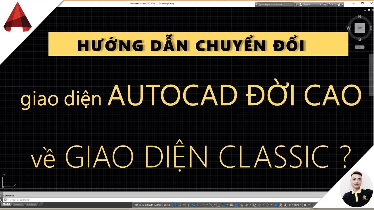   Lisp Cad   Đưa giao diện AutoCAD về giao diện cổ điển // thủ thuật hay autocad