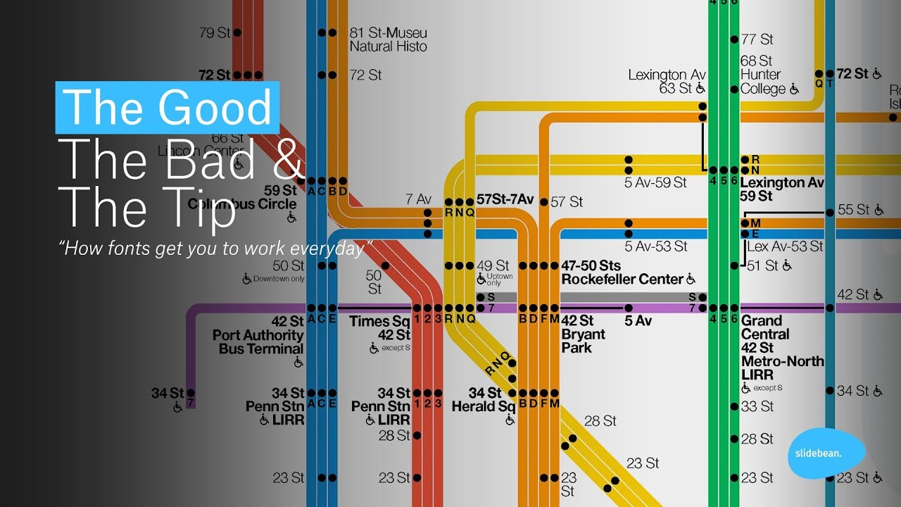 Subway Map For New York City.New York City Subway Map Designer Bad Fonts The Good The Bad And The Tip