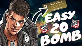 20 Bombs are so EASY with Bangalore using this LOADOUT - DOUBLE SMG DIGITAL-THREAT - Apex Legends
