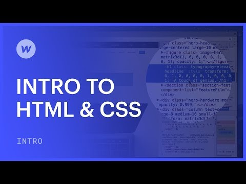 HTML And CSS For Beginners - Webflow Web Design Tutorial