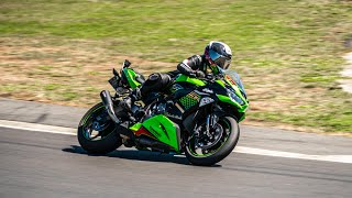 2020 ZX6R On Track || Scorpion Red Power Exhaust