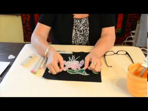Dutch Quilter Demonstrates Hot Ribbon Aplique