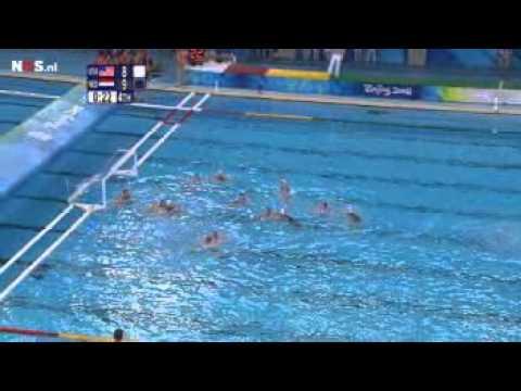 Olympisch goud waterpolodames Beijing 2008